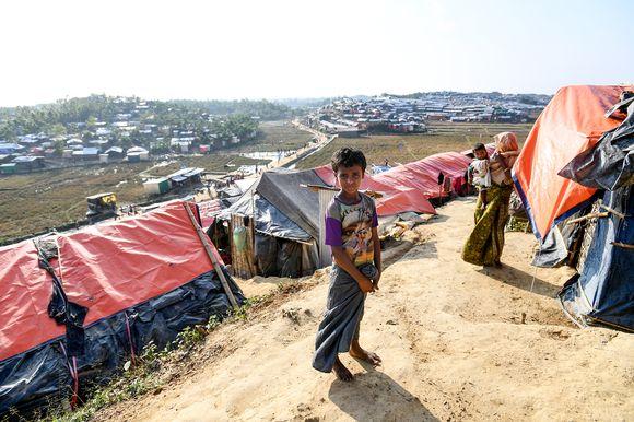 Pakolaisleiri Bangladeshissa.