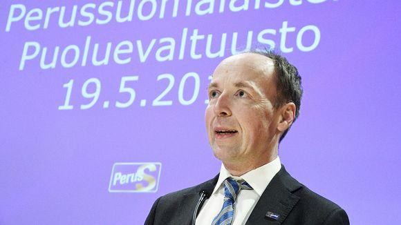 piti poliittisen tilannekatsauksen Perussuomalaisten puoluevaltuuston kokouksessa.