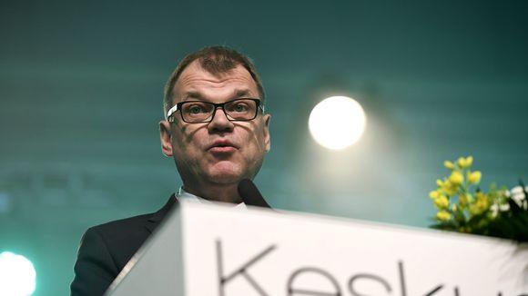 Juha Sipilä keskustan puoluekokouksen avajaisissa Sotkamossa.