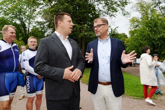 Juri Ratas ja Juha Sipilä.
