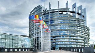 EU-parlamentin rakennus Strasbourgissa.