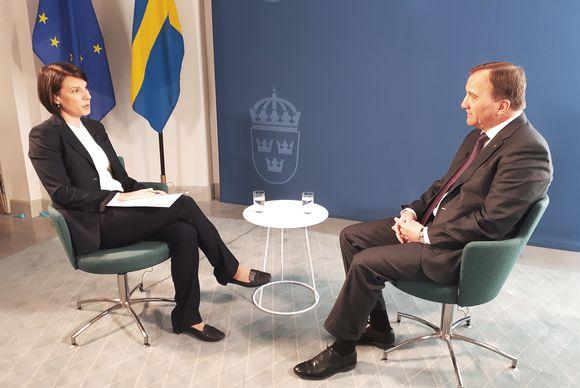 Stefan Löfven Ylen Ykkösaamun haastattelussa.