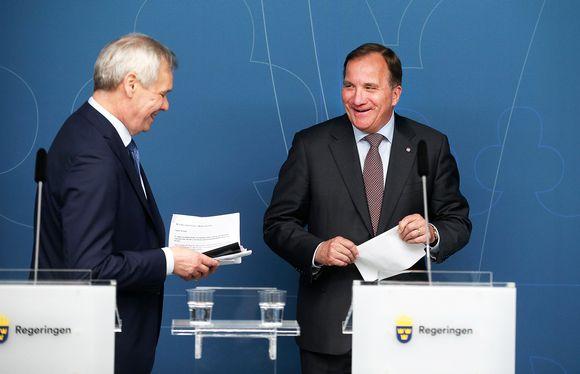 Antti Rinne ja Stefan Löfven.