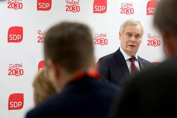 SDP:n puheenjohtaja, pääministeri Antti Rinne piti poliittisen tilannekatsauksen SDP:n puoluevaltuuston kokouksessa Porissa 16. marraskuuta