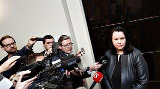 Eduskunnan perustuslakivaliokunnan puheenjohtaja Johanna Ojala-Niemelä perustuslakivaliokunnan kokouksen jälkeen Helsingissä 19. helmikuuta 2020.