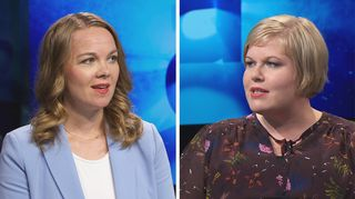 Katri Kulmuni ja Annika Saarikko.