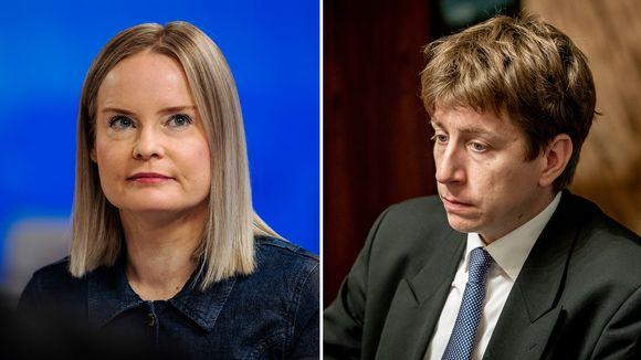 Riikka Purra ja Sakari Puisto.