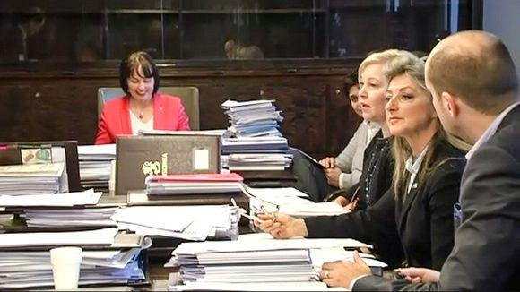 Eduskunnan sivistysvaliokunnan kokous.