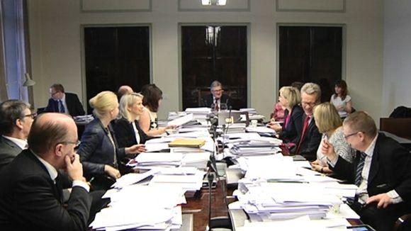 Perustuslakivaliokunta kokoontui 5. maaliskuuta 2015.