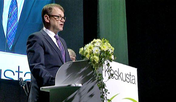 Juha Sipilä Keskustan puoluekokouksessa Seinäjoella 10. kesäkuuta.