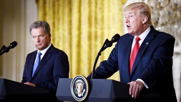 Presidentit Sauli Niinistö ja Donald Trump