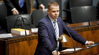 Petteri Orpo eduskunnan täysistunnossa.