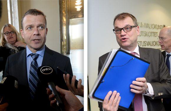 Petteri Orpo ja Juha Sipilä, kuvayhdistelmä.