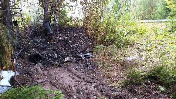 Rauman kuolonkolarin onnettomuuspaikka 5. syyskuuta 2019.