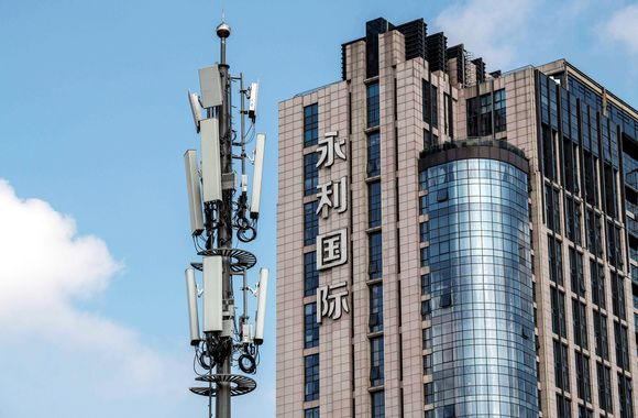 5g-verkkotorni Pekingissä.