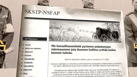 Kuva natsipuoluoeeksi tähtäävän järjestön verkkosivuilta.