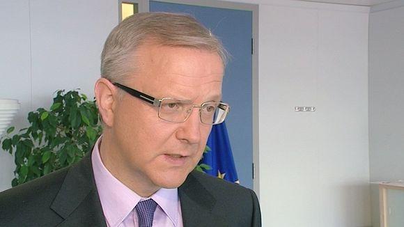 Talouskomissaari Olli Rehn.