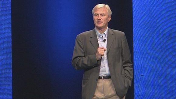 Nokian johtokunnan jättävä Anssi Vanjoki puhuu Lontoossa Nokia World -tapahtumassa.