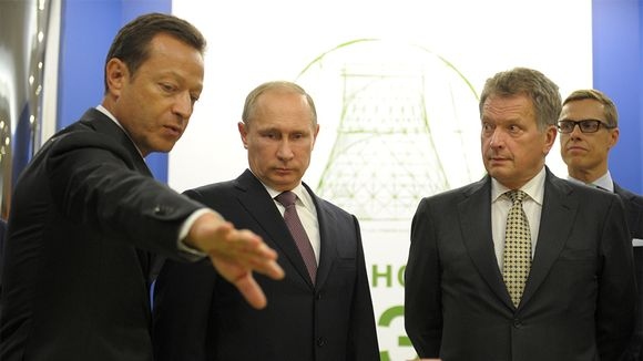 Alexander Chuvaev, Vladimir Putin, Sauli Niinistö ja Alexander Stubb.