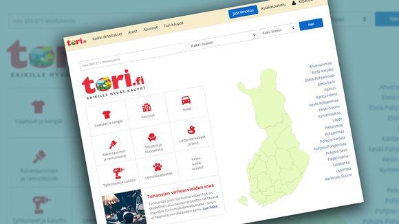 Tori.fi:n etusivu.