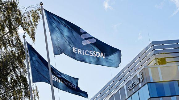 Ericssonin lippuja.