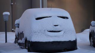 auton lumipeite loi hauskan kuvion