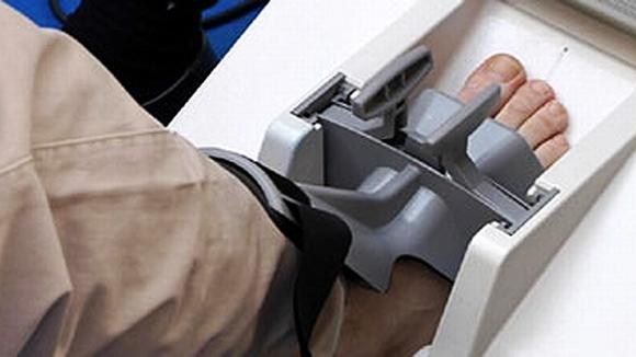 Osteoporoosin eli luukadon mittaus.