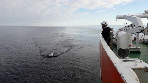 Manta-haavi kerää mikroroskaa Itämerella