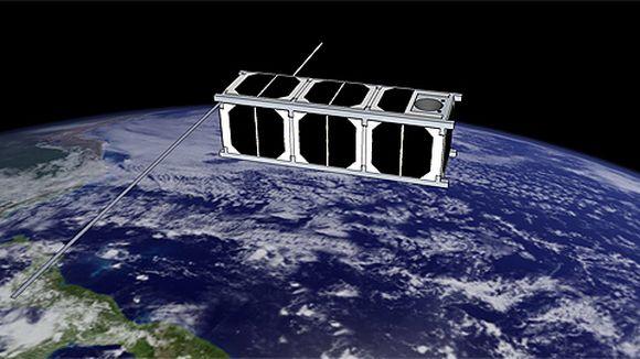 Havainnekuva Aalto-yliopiston opiskelijoiden suunnittelemasta satelliitista.