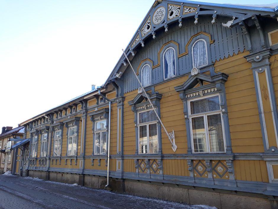 Puutalo vanhassa Raumassa