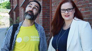 Space Nationin yksi perustaja ja sisällöntuottaja Mazdak Nassir ja markkinointijohtaja Katja Presnal