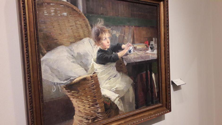 Helene Schjerfbeckin maalaus Toipilas