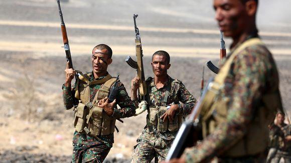 Jemeniläisiä sotilaita Maribissa.