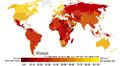 Kartta korruptiosta maailmassa