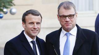 Emmanuel Macron ja Juha Sipilä.