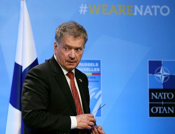 Presidentti Sauli Niinistö Naton huippukokouksessa torstaina 12. heinäkuuta.