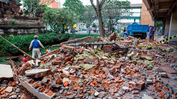 rakennusromua Denpasarin kaupungissa