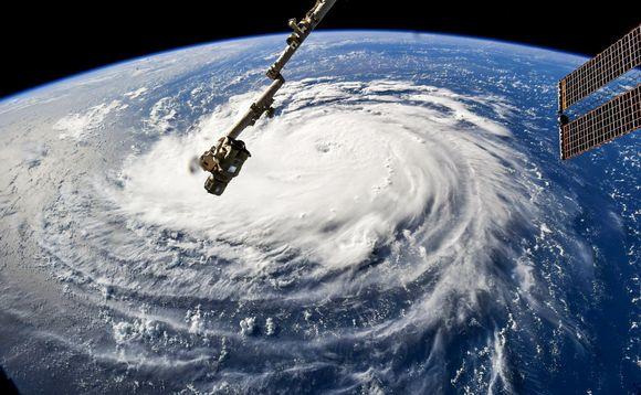 Florence-hurrikaani nähtynä kansainväliseltä avaruusasemalta.
