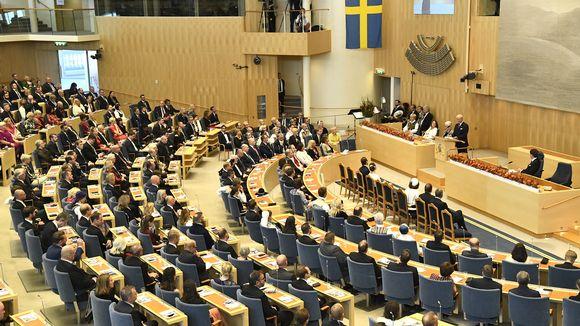 kuningas avasi Ruotsin valtiopäivien istuntokauden