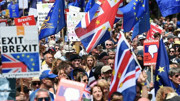 Uutta kansanäänestystä vaadittiin mielenosoituksessa Lontoossa kesäkuussa 2018.