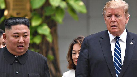 Yhdysvaltain presidentti Donald Trump ja Pohjois-Korean johtaja Kim Jong-un jaloittelivat neuvottelujen välillä puutarhassa.