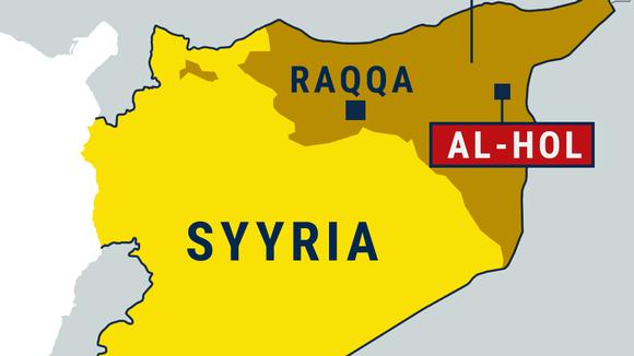 Syyrian kartta, Raqqa, Al-Holin leiri