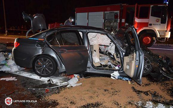 Liettua auto-onnettomuus