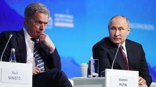 Sauli Niinistö ja Vladimir Putin tapasivat 9. huhtikuuta Pietarissa.