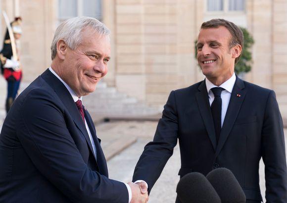 Antti Rinne ja Emmanuel Macron.