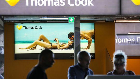 Thomas Cook -matkatoimiston tiski Frankfurtin lentokentällä kesäkuussa.