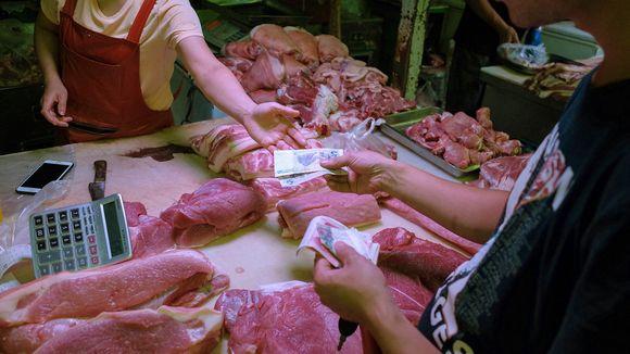 Sianlihan myyntiä tukkukaupassa Pekingissä.