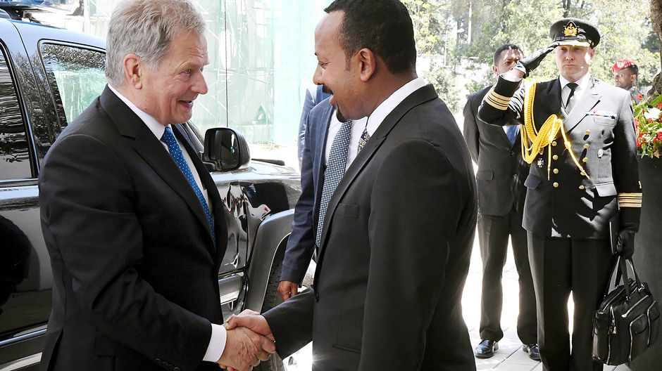 Niinistö meets freshly-minted Nobel laureate Ahmed on Ethiopia visit