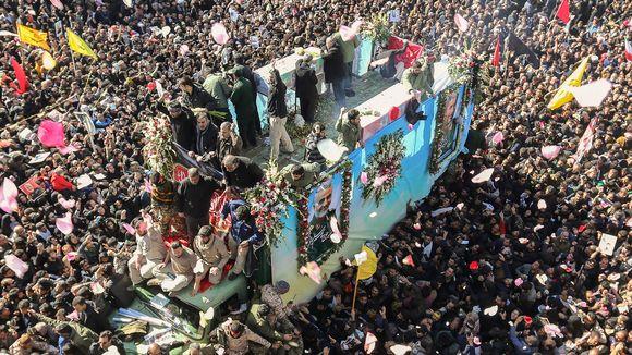 Qasem Soleimanin hautajaiset.
