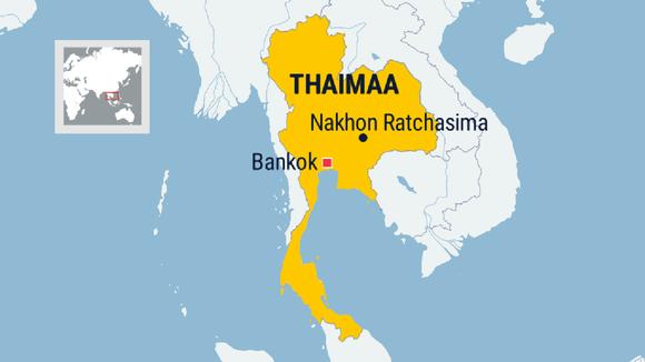 Thaimaan kartta.